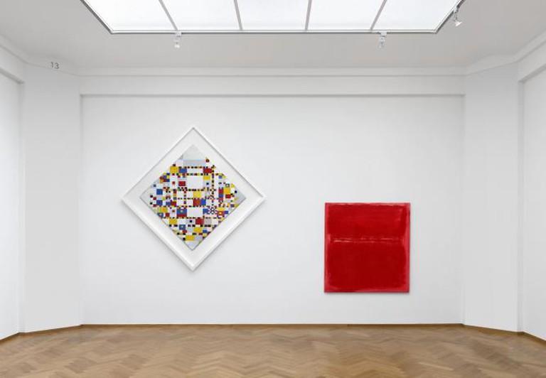 Piet Mondrian, 'Victory Boogie Woogie,' 1944 & Mark Rothko, 'Untitled,' 1970 | © Gerrit Schrreurs/Courtesy Gemeentemuseum den Haag