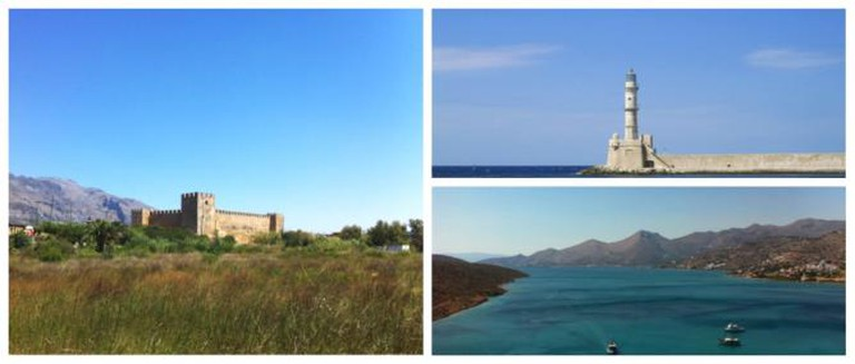 The lighthouse, Chania, The view from the top of the fortress, Spinalonga, Frangokastello Castle