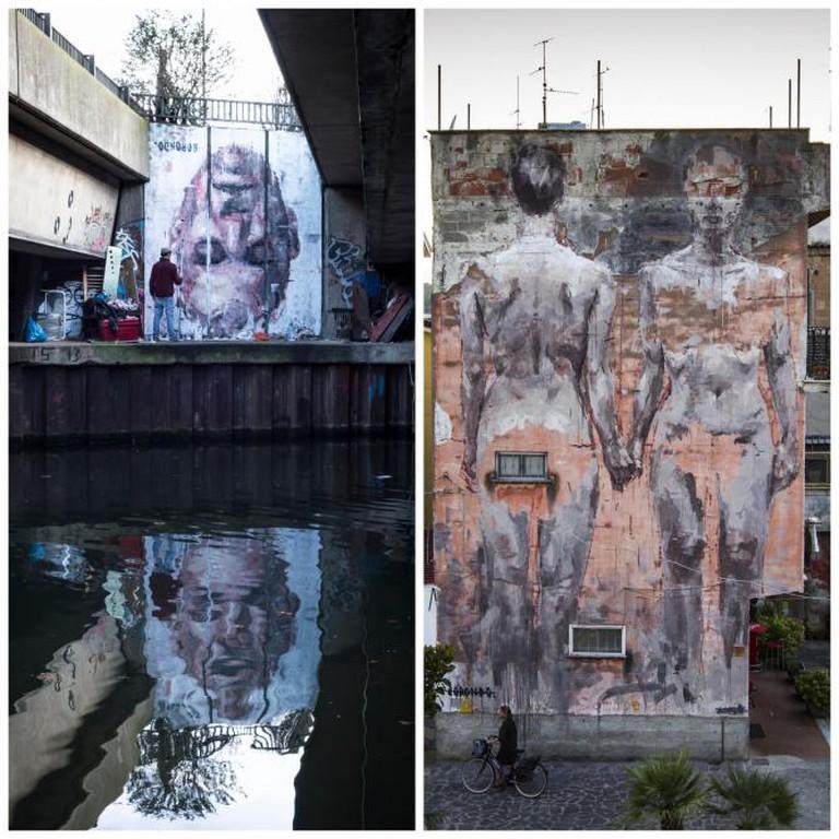 'Narcissus', London, England, 2014 ; Oltre il Muro Festival, Sapri, Italy, 2013 | © Fabiano Caputo