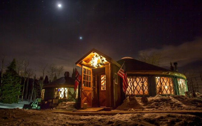 Exterior View of The Viking Yurt | Image Courtesy the Restaurant