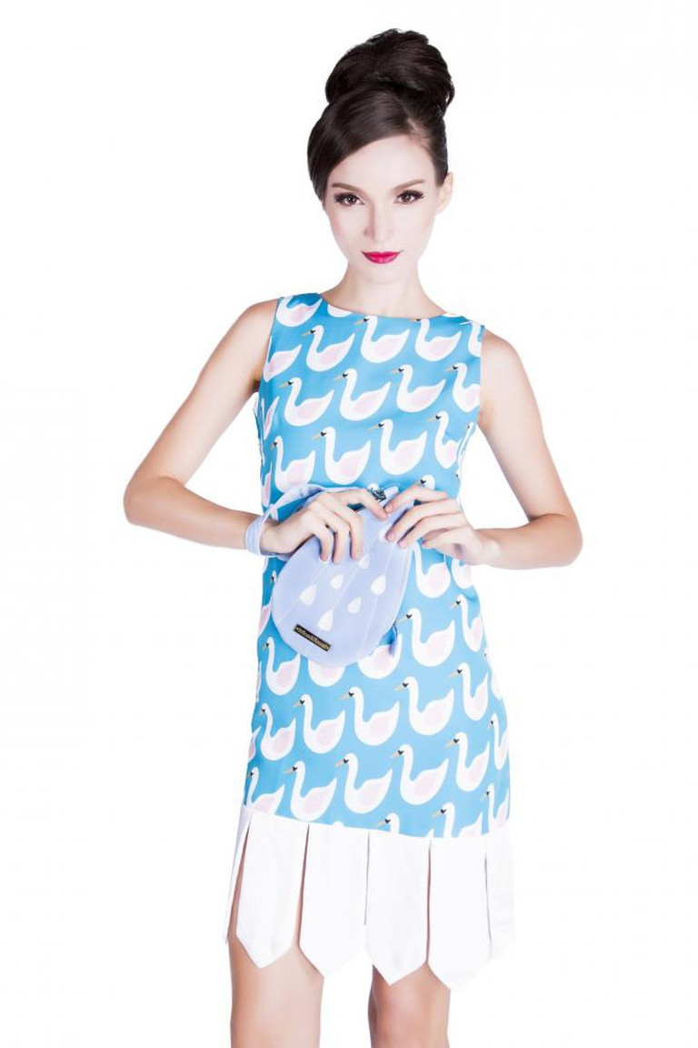 Swan Dress from the Tommie Collection | Courtesy Noel Caleb