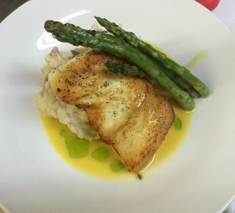 Pan Roasted East Coast Halibut | courtesy of Tin Pan Alley