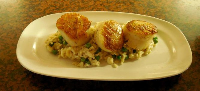 Pan Seared Day Boat Scallops | courtesy of Tin Pan Alley