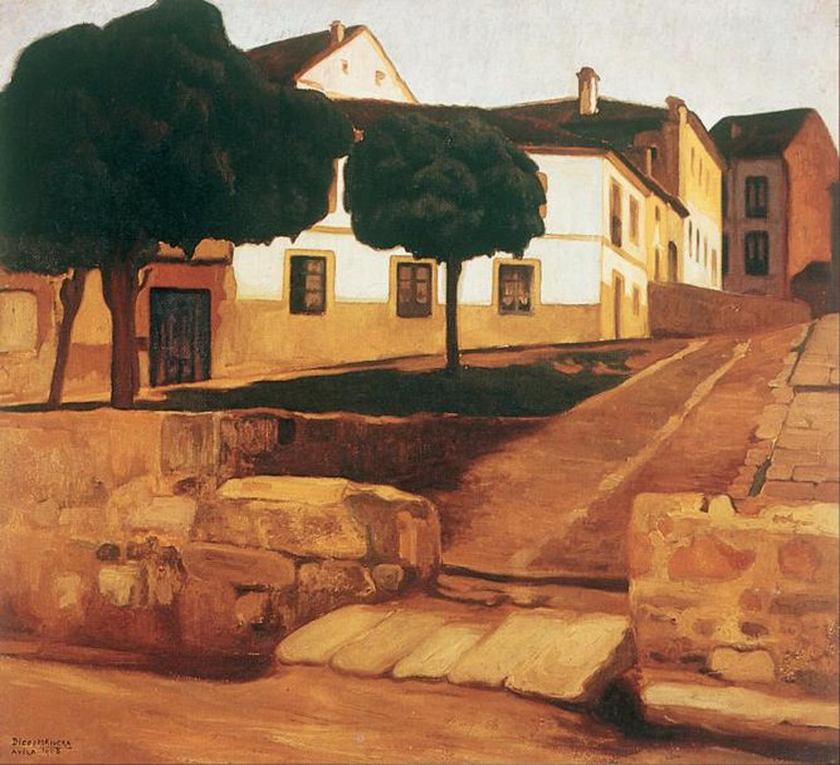Street in Ávila (Ávila Landscape) in the Museo Nacional del Arte | © Dcoetzee/Wikicommons