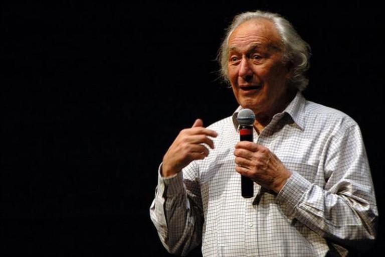William Klein à la Cinémathèque française, photo courtesy Roman Bonnefoy