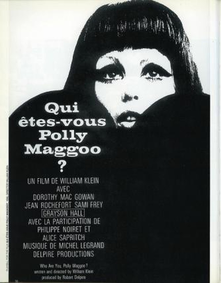 "Playbill from Klein's film, ""Who are you Polly Magoo?"" in French	