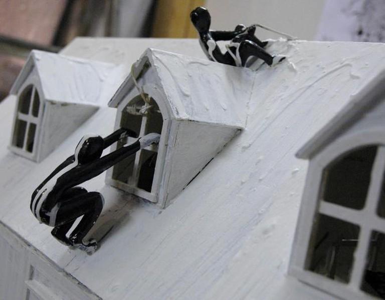 Arlene Wandera, I've Always Wanted a Doll's House, Detail II, mixed media, 2014. Courtesy of ARTLabAfrica