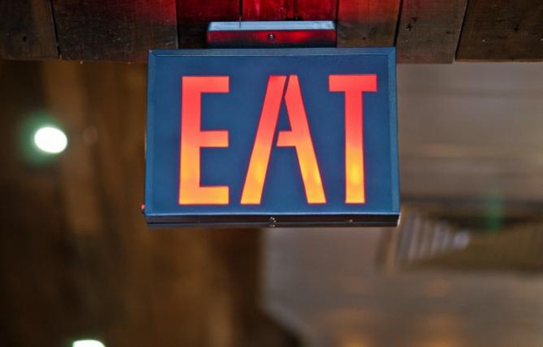 EAT sign | Courtesy of Colonie
