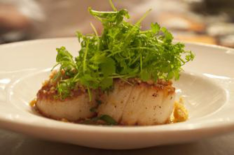 Terzo Restaurant Scallops San Francisco Pacific Heights