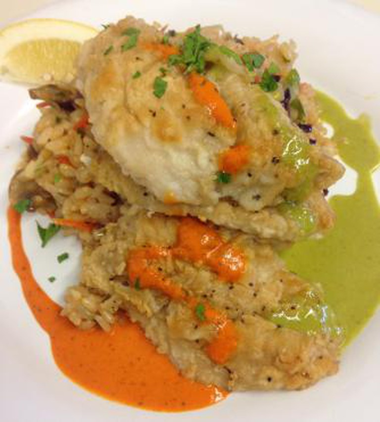 Snapper with Rice Pilaf   Courtesy of I'd Eat There