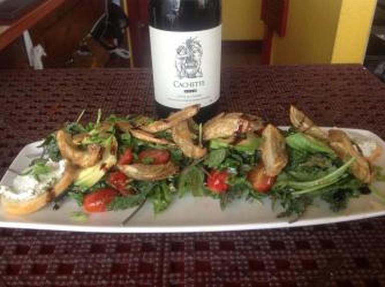 Artichoke salad with wine   Courtesy of Z Bistro