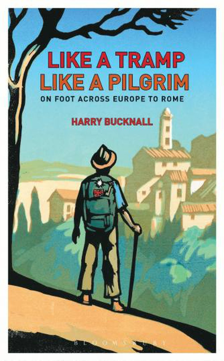 Like a tramp like a pilgrim, book, front cover, harry bacchanal