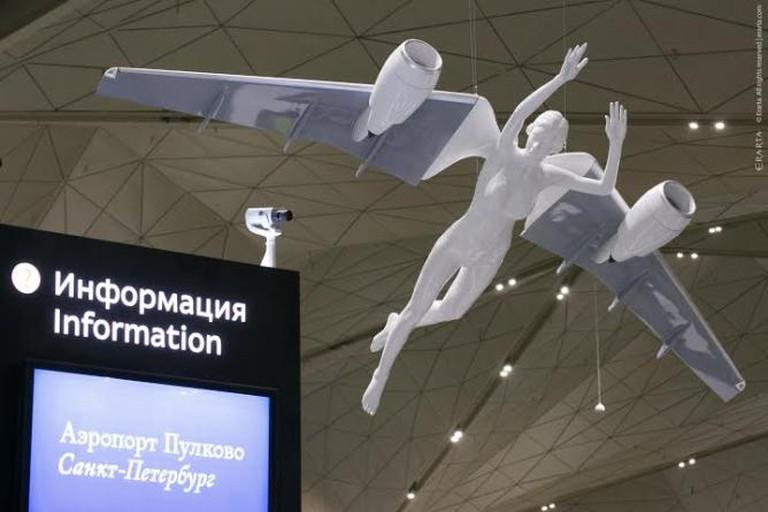 Angel at Pulkovo airport, Dmitry Shorin  Courtesy of ERARTA