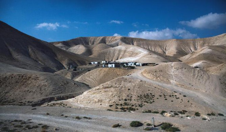 a Bedouin village on land being claimed as Israeli state land. Bedouins face constant harassment by the Israeli army and often see their homes destroyed and live stock confiscated.