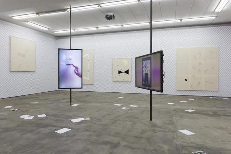 Florian Meisenberg, installation view | Courtesy of Wentrup Gallery