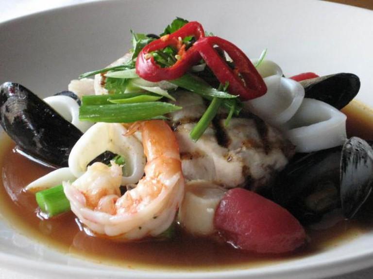 Gulf Shrimp, Scallop, Mussels & Calamari