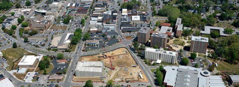 Greenville from above| © Kol2/WikimediaCommons