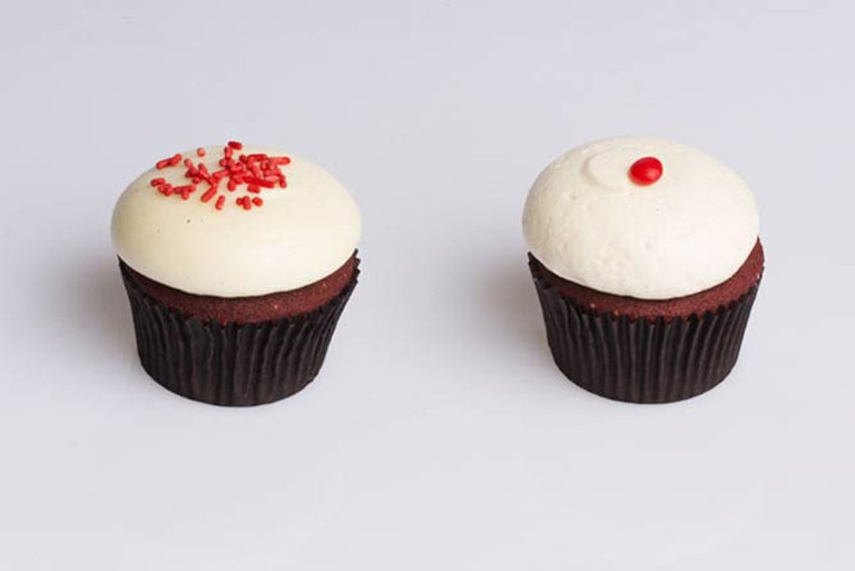 Baked Traditional Red Velvet (Left), Cinnamon Vanilla Buttercream (Right) | © Clareese Hill