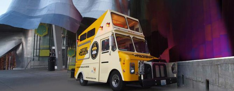Cheese Wizards food truck outside the Seattle EMP Museum | Courtesy of Cheese Wizards