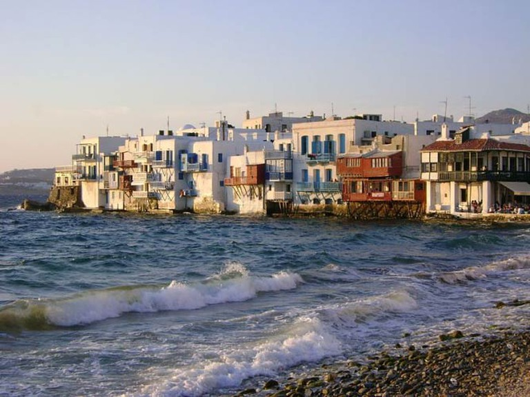View of Little Venice, Mykonos, Greece