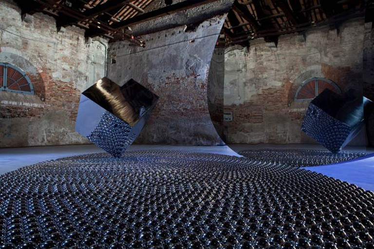 Shadia and Raja Alem, The Black Arch, 2011, installation view at the Venice Biennale 2011. Collection of Basma Al- Souliman