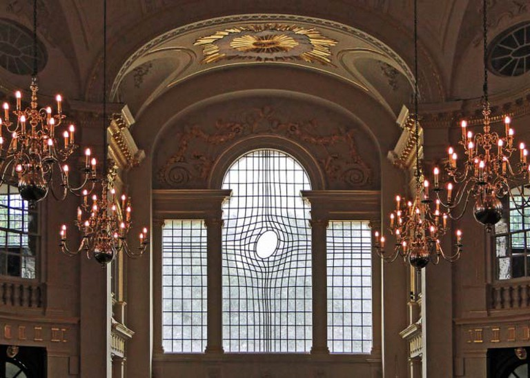 Shirazeh Houshiary, Commission for St Martin-in-the- Fields, London, 2008, collaboration with Pip Horne on the new East Window