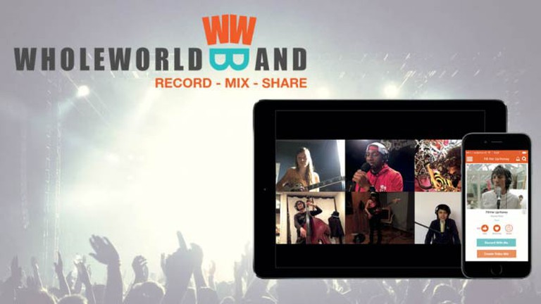 WholeWorldBand on iPhone and iPad | Courtesy WholeWorldBand