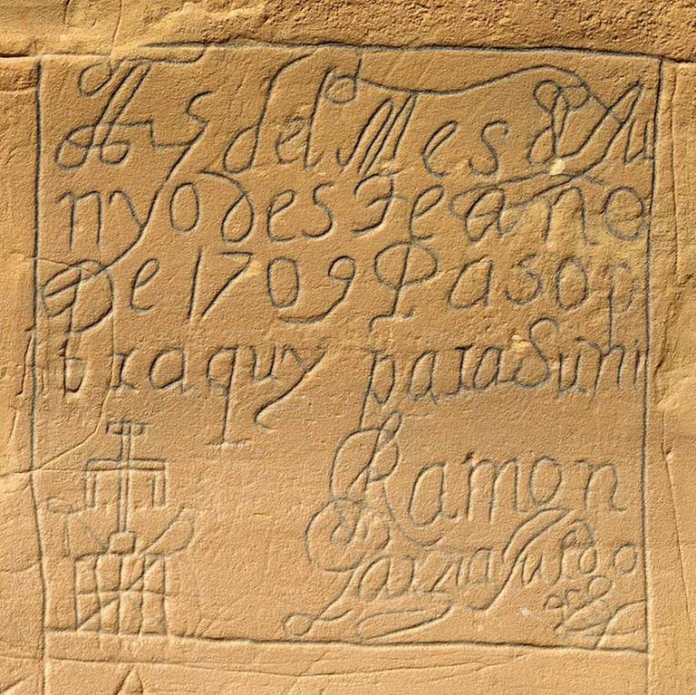Jim Bowen, El Morro Petroglyph- Creative Commons