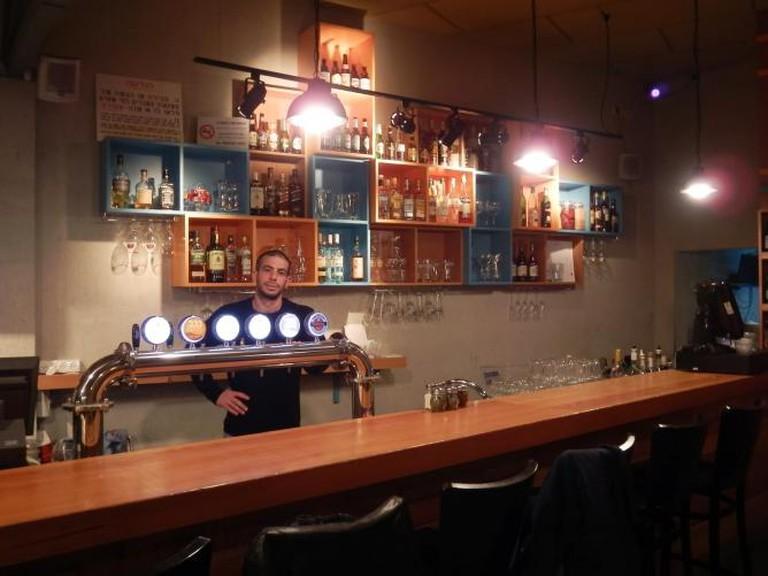 Israeli Beers on Tap at Bardak in Jerusalem | @Doug Greener/BlogSpot