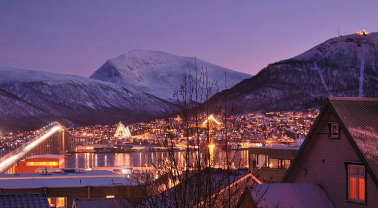 Early afternoon during the Polar Night, Tromsø