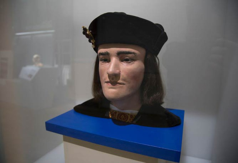Facial Reconstruction King Richard III at the Visitor Centre Leicester