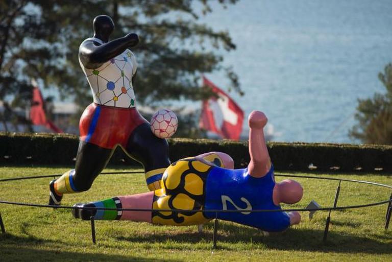 The footballers, Niki de Saint Phalle © CIO Catherine Leutenegger