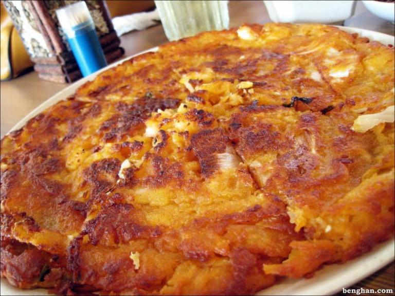 Jeon is a fried, pancake-like snack