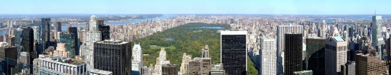 Panoramic View of the Central Park in New York City from Top of the Rock at Rockefeller Centre