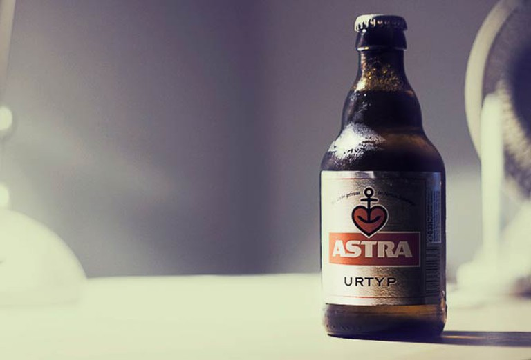 A bottle of Astra beer from St. Pauli, Hamburg