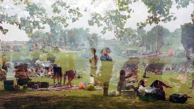 Simon Terrill 'London Fields' 2015. Courtesy of The Fine Art Society