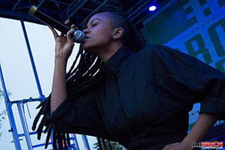 Kelela performing at Broccoli City Festival, Washington, D.C.
