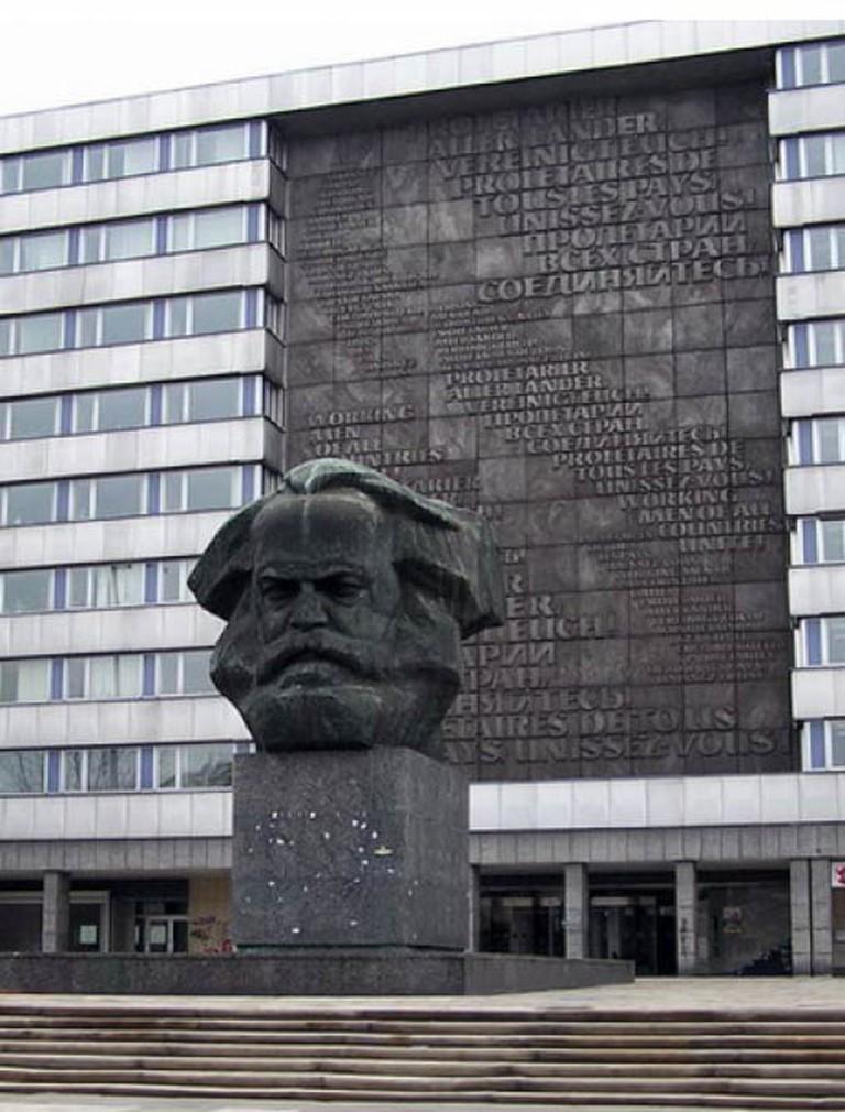 The famed Karl Marx head in Chemnitz