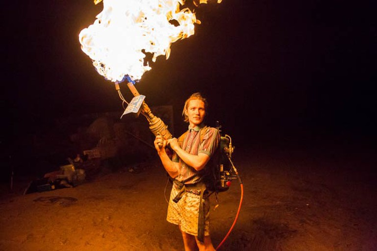 Home-made Flame Thrower © Tod Seelie