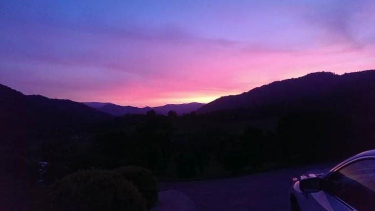 Sunset near Asheville | © brewpon/pixabay