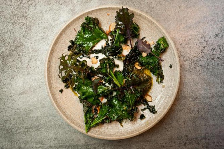 Burnt kale, cavolo nero and toasted almonds © The Manor