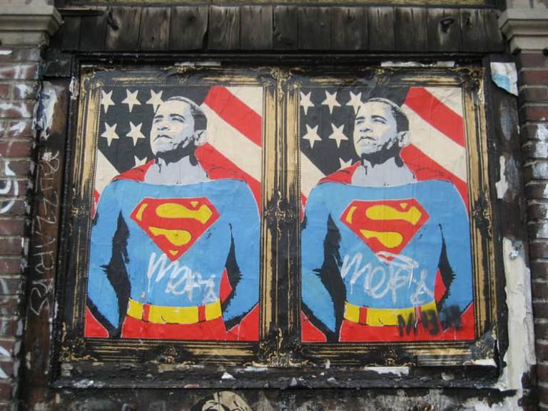 Barack Obama as Superman Paste-Up | © SliceofNYC/Flickr