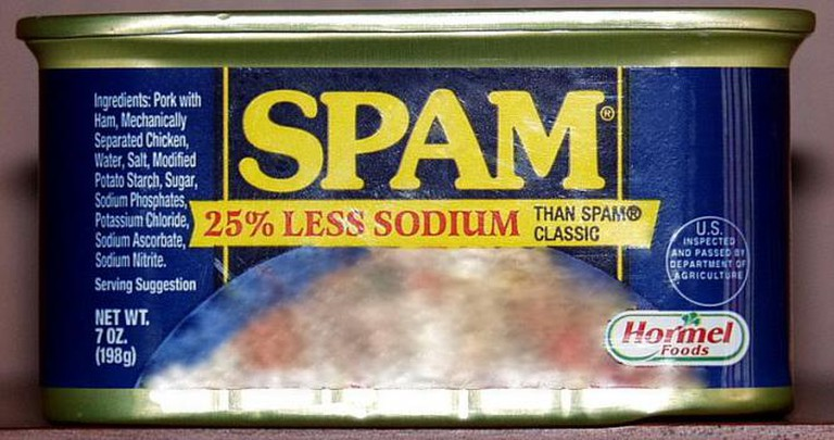 A Gift Set with Nine Cans of Spam