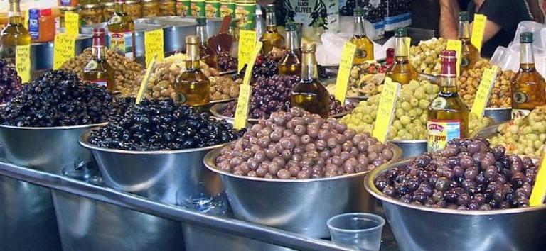 carmel market olives israel tel aviv