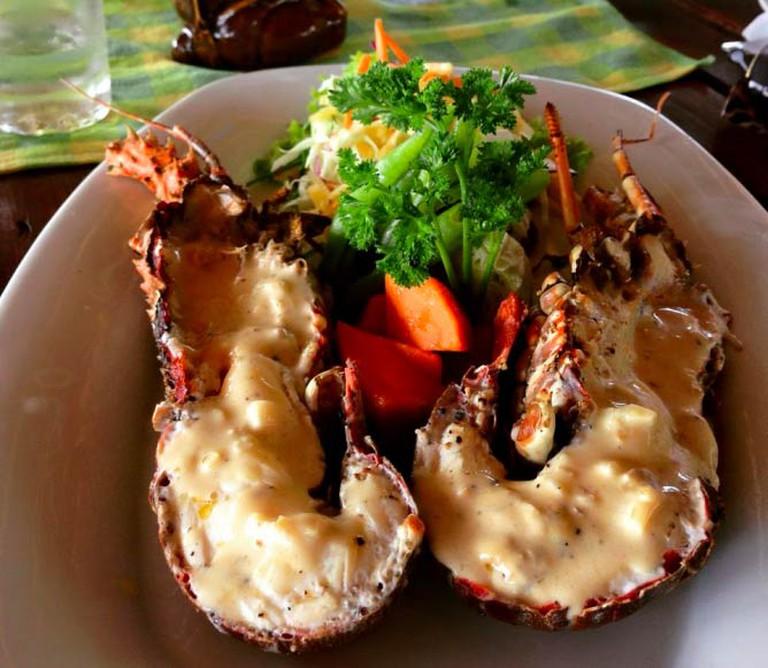 Indian Ocean Fresh Lobster on the Beach