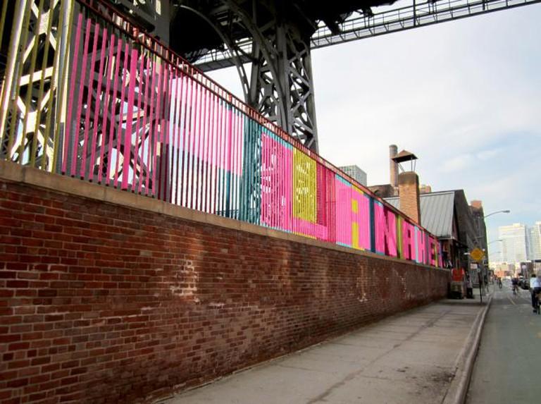 Knit graffiti by Magda Sayeg in NYC | © NYCStreets/Flickr