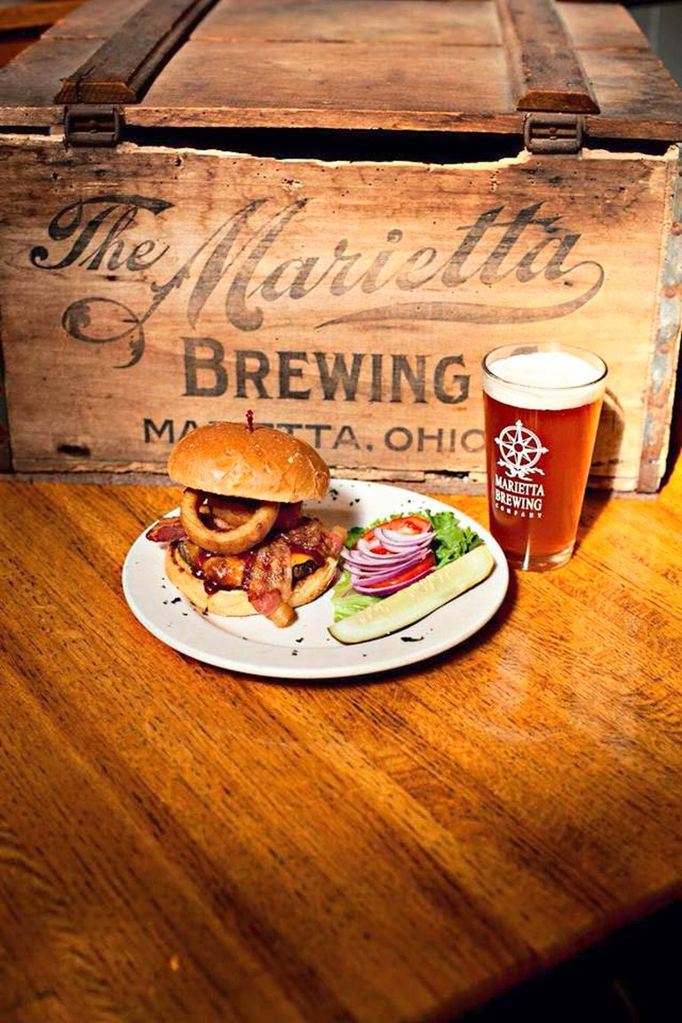 Burger and Beer | Courtesy of Marietta Brewing Company