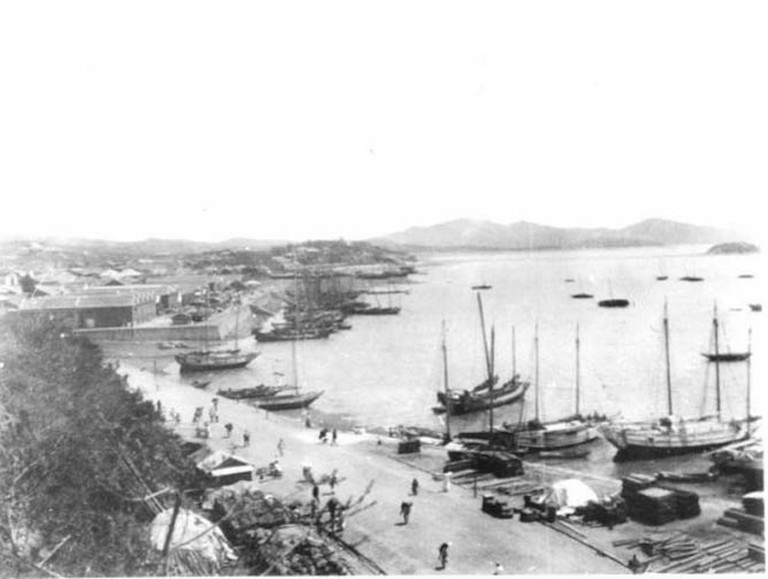 Photo RTW_vol_5_001, Chemulpo, Korea, May 1903 [View from British Consulate above over harbour and town] © The Gertrude Bell Archive, Newcastle University
