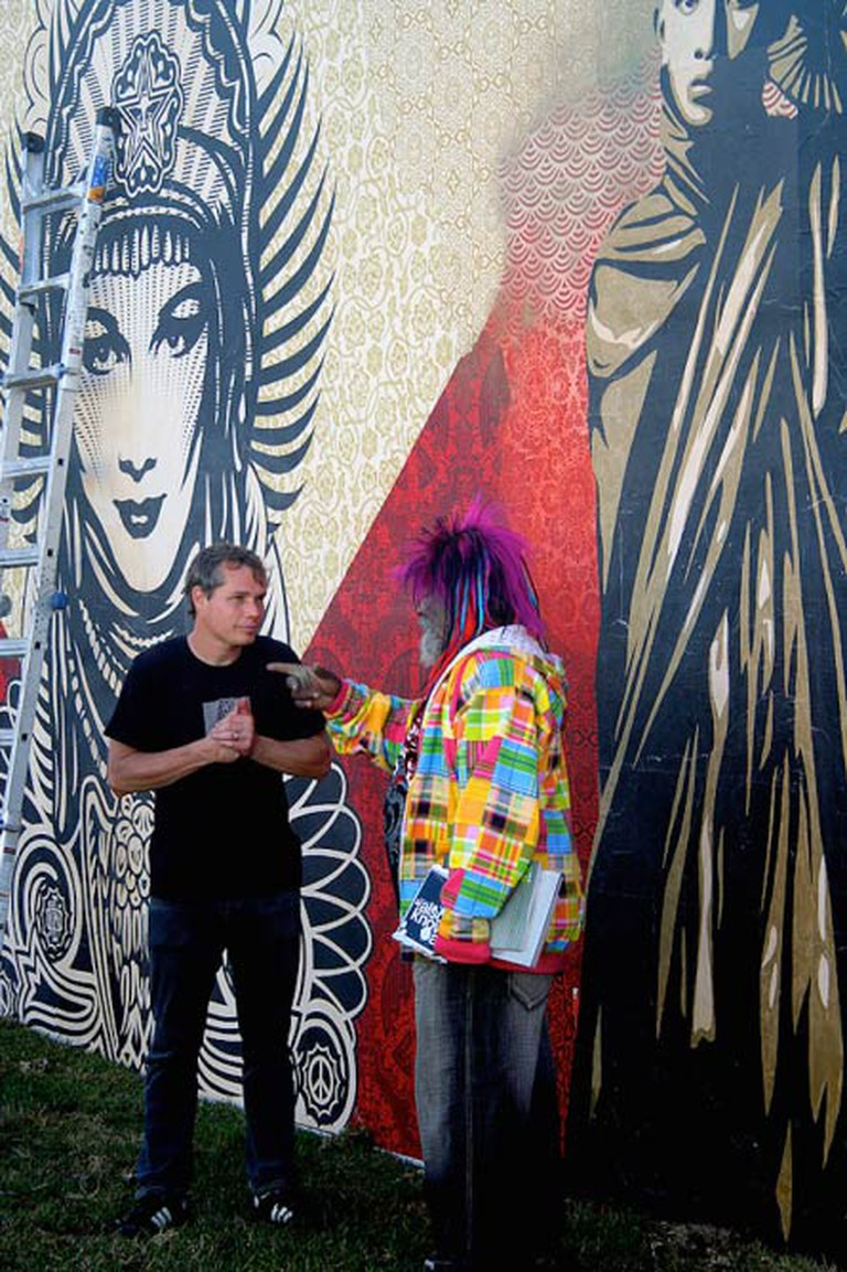 Shepard Fairey and George Clinton at the Wynwood Walls Project in Miami, 2010 | © Andreas Engel/FlickrCommons