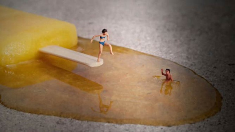 The Jetty by Slinkachu| Image by Imme Dattenberg-Doyle